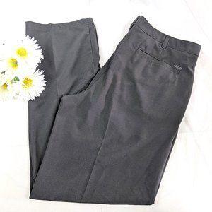 Izod Black Swingflex Slim-Fit Stretch Golf Pants